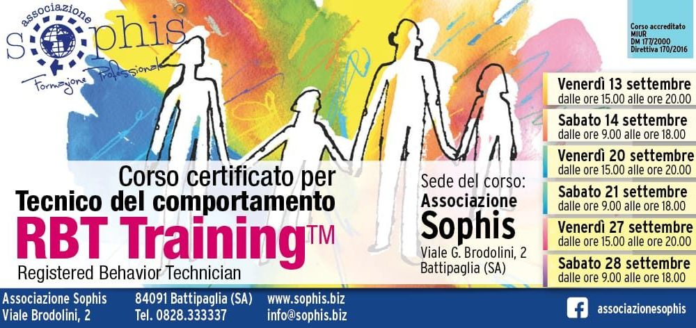Tecnico Del Comportamento- RBT Training 2019- Battipaglia (SA)