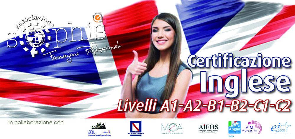 Certificazione Inglese Livello A1 -A2 -B1 -B2 -C1 -C2
