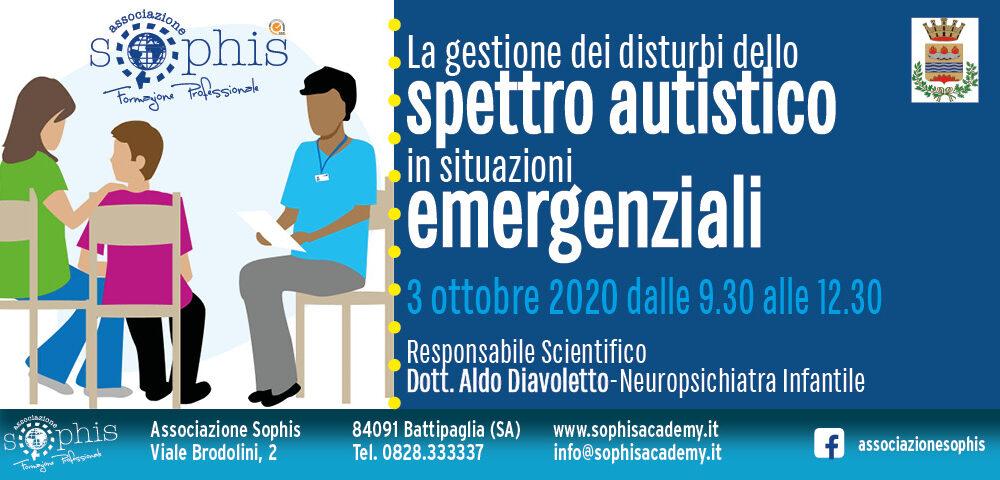 La Gestione Dei Disturbi Dello Spettro Autistico In Situazioni Emergenziali