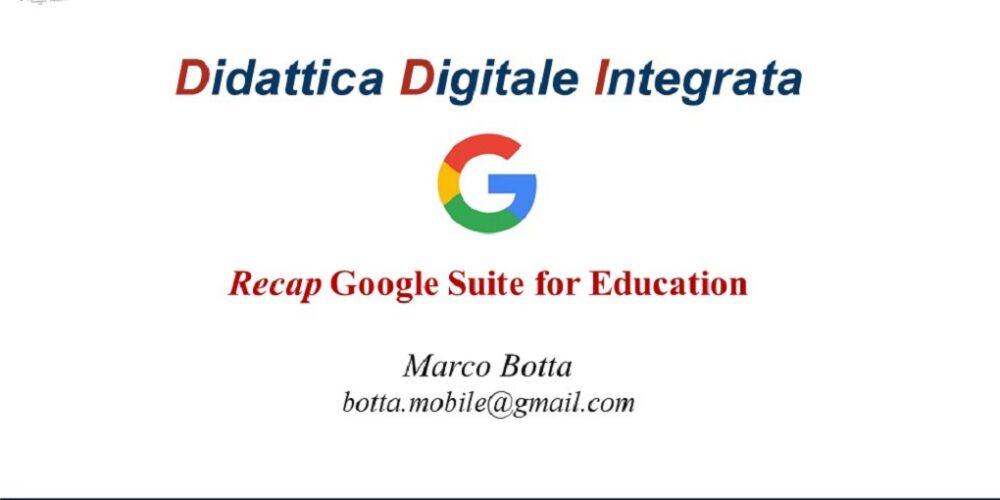 Recap Google Suite For Education